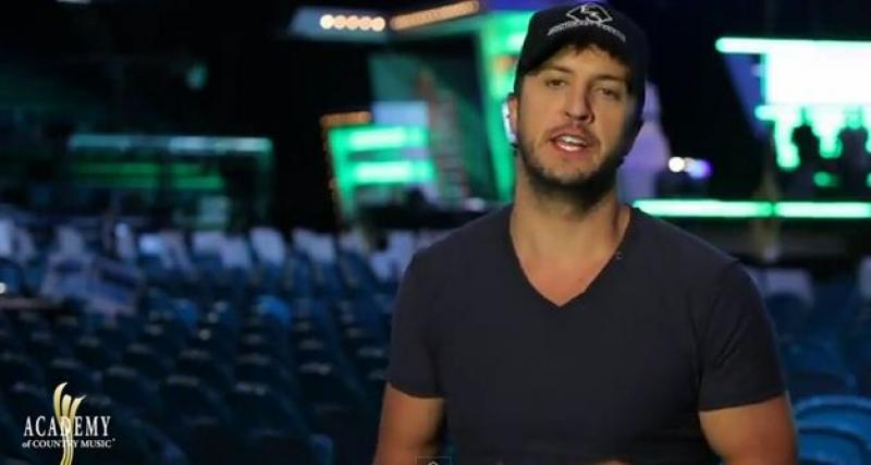 ACM AWARDS 2012 Rehearsals - Luke Bryan